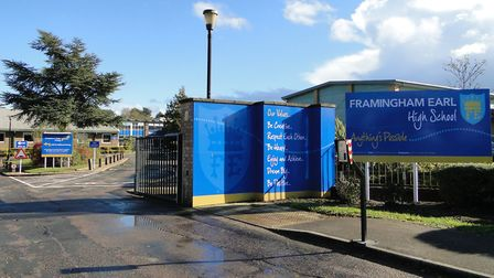 Framingham Earl High School where some pupils have been told to self-isolate after a confirmed case