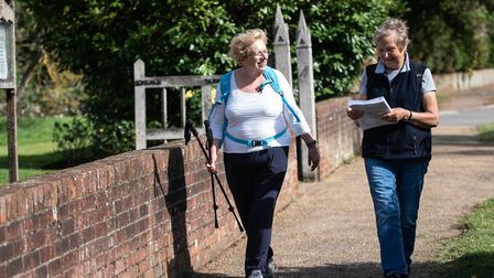 Rosemary Jewers and Rina Adams walked along the Roman Roads to raise money for their church, which h