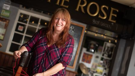 Dawn Hopkins, owner and landlady of The Rose in Norwich is looking forward to welcoming back her cus