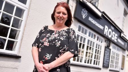 Dawn Hopkins, landlady at the Rose in Norwich. Pic: Archant