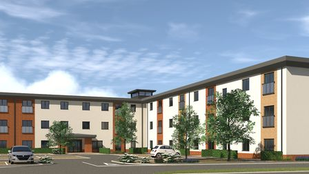 A CGI mockup of what the finished Meadow Walk apartments on Rudham Stile Lane in Fakenham will look