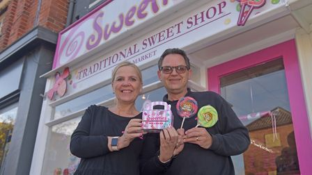 Beccles Shop Local Campaign. Vanessa and Paul Kisby, Sweeties Beccles. Pictures: BRITTANY WOODMAN