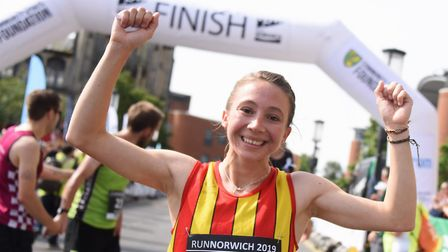 Run Norwich winner Iona Lake has signed up for the Sportlink Mile - Virtual SMile Challenge. Picture