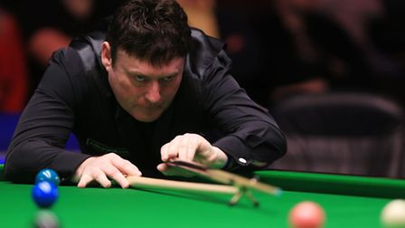 Jimmy White on action a the UK Championships in December - and he will be in Norwich later this mont