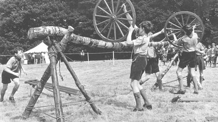 Places -- W West Runton Scouts seen in action during the trek cart challenge at the Norfolk Youth