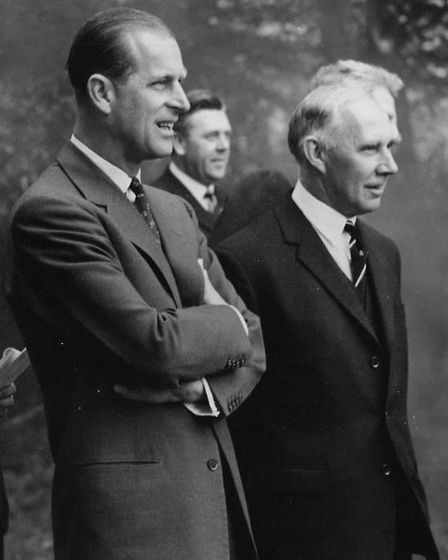 Duke at Holt Hall with headmaster, 1963. Picture: Archant Library
