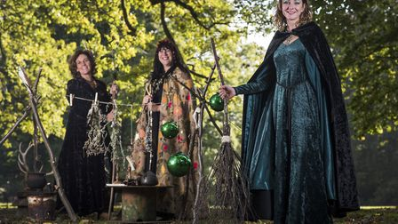Witches Sarah Wise, Abbie Panks and Hannah Burns from the Fairyland Trust. Picture: SUBMITTED