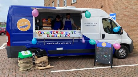 Jack Nicholls and Joe Walden, with the Coffee Break van, which is helping young care leavers find wo