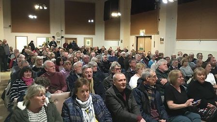 A parish meeting to discuss the future of a divided Attleborough Town Council was held in March. Pic