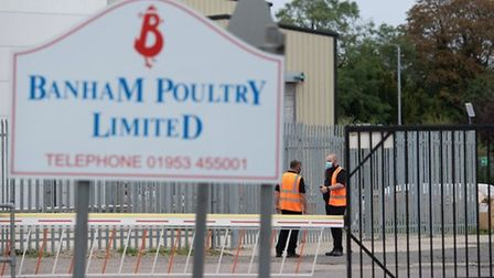 The Banham Poultry factory in Attleborough, where there was a coronavirus outbreak. Picture: Joe Gid