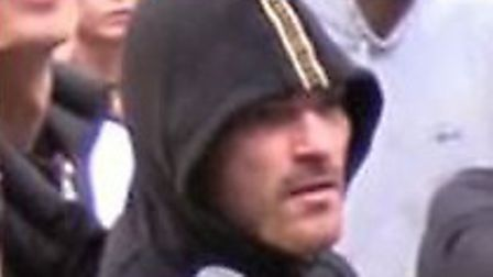 Officers want to speak to this man in connection with assaults on police at a rave in Thetford Fores