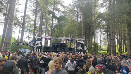 Ravers at an illegal event in Thetford Forest. Picture: Josh Carvell