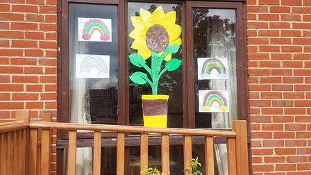A window display at the Maltings Care Home in Fakenham earlier this year. The care home has been put