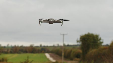 A police drone is launched to search for hare coursers in the Fens Picture: Chris Bishop