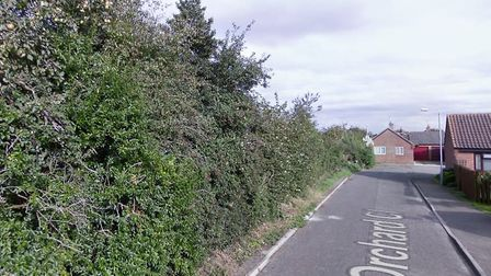 Plans for new homes off Orchard Close in Briston have been recommended for approval. Image: Google S