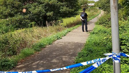 Body has had been discovered in the River Gipping near London Road, Ipswich Picture: RACHEL EDGE