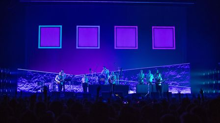 Bombay Bicycle Club in 2019 - set designed by Hangman. Picture: Justin De Souza