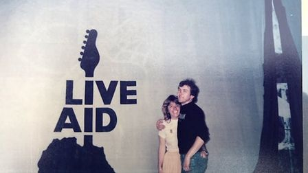 Chrissie and Alan Chesters at the first Live Aid concert. Picture: Hangman