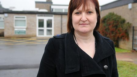 Joanna Pedlow, head of Toftwood Junior School, is angry over 'mindless vandalism' of equipment. Pict