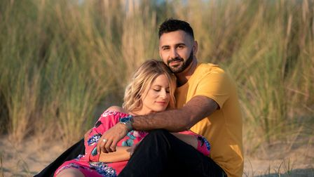 Jake Aldridge has written and produced a love song for his fiance Lisa. PHOTO: Liz Bishop Photograph