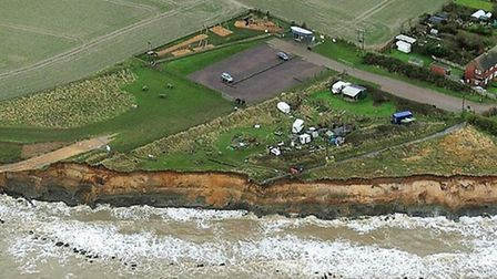 An aerial view of Happisburgh taken in 2018. Pic: Mike Page