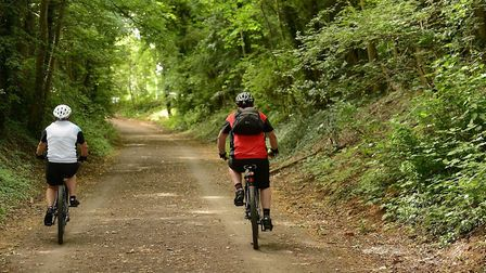 Cyclists enjoying the Marriott's Way. Picture: Supplied by Norfolk County Council