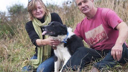 Scottie the dog is safe and well after his dramatic fall down a well. He was rescued by firefighter