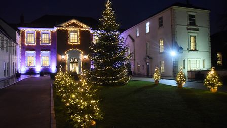 The Christmas lights at the Assembly House. Picture: DENISE BRADLEY