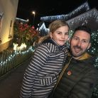Nell and Tristan Cork at Park Green in Hethersett where the whole road have decorated their homes to