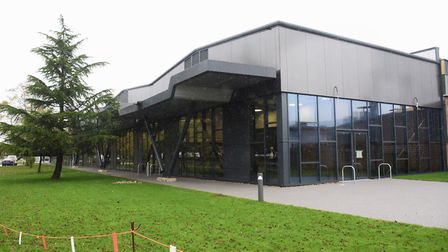 The newly built staff restaurant at Lotus Cars, which is by the avenue of trees planned by Hazel Cha