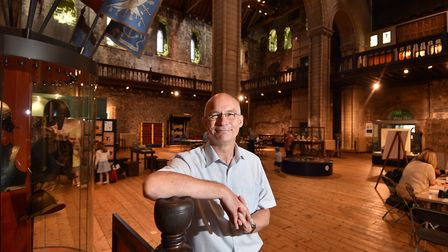 Dr John Davies, former Chief Curator of Norwich Castle Museum. Picture : ANTONY KELLY