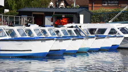 FLASHBACK: Broads Tours day boats ready to hire at Wroxham as lockdown is eased. Hiring boats is off