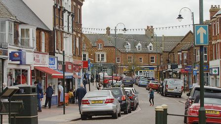 Hunstanton High Street where traders are again teaming up to deliver to locked-down customers Pictu
