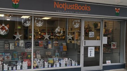 Not Just Book, an independent book shop, in Thetford Town Centre. Photo: Jane James