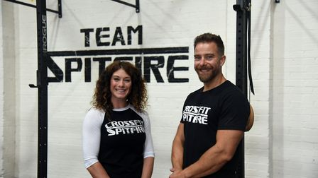 Owners Sheena and David Smith Crossfit Spitfire gym in Norwich. Picture: CHARLOTTE BOND