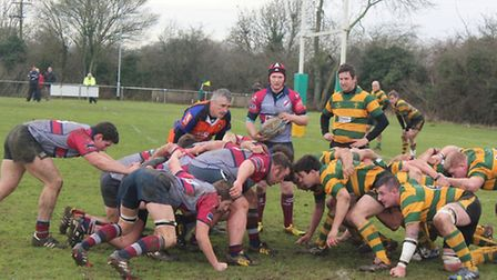 Crusaders, yellow and green, v West Norfolk.