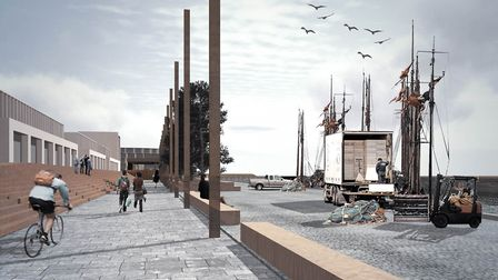 An artist's impression of how the revitalised quayside might look Picture: BCKLWN