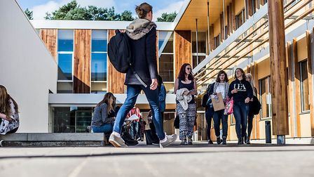 UEA student have recieved a letter urging them to stay in Norwich despite the lockdown. Picture: Dar