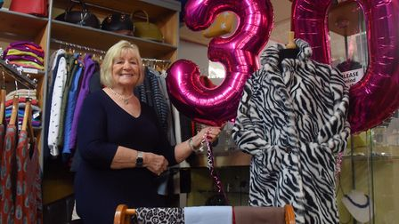 Shopping Local in Fakenham. Annie Bush owner of Get Smart, celebrating 30 years trading. Picture: DE