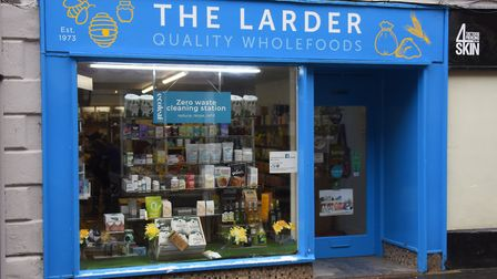 Shopping Local in Fakenham. The Larder in Norwich Street, selling quality wholefoods. Picture: DENIS