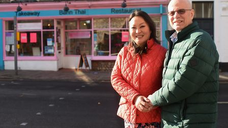 Belle and Kim Steggles at Bann Thai in Cromer, which has won the Good Food Award for best restaurant