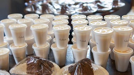 Puddings all packaged up ready to be delivered as part of The Butchers Arms in East Ruston's deliver