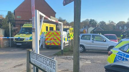Emergency services were called to Becclesgate in Dereham on Thursday following reports of a large ga