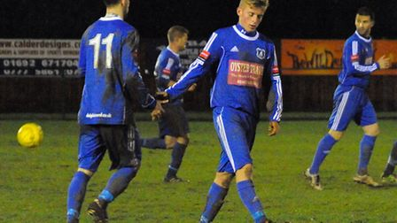 Wroxham FC in action. Picture: Denise Bradley.
