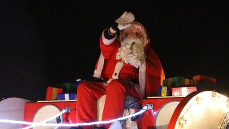 FLASHBACK: Santa doing his rounds - but the annual tour is in doubt this year because of coronavirus
