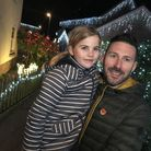 Tristan Cork with his daughter Nell Cork at Park Green in Hethersett, which will be decorated with C