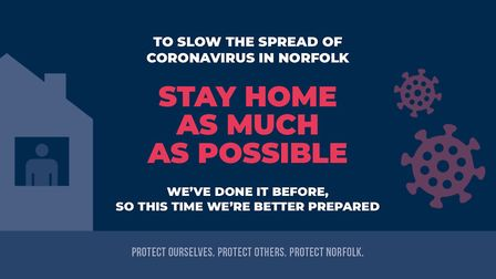 Norfolk County Council has produced posters urging people to abide by lockdown rules. Pic: Norfolk C