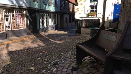 The hexagonal bench on Elm Hill. Picture: Nick Richards
