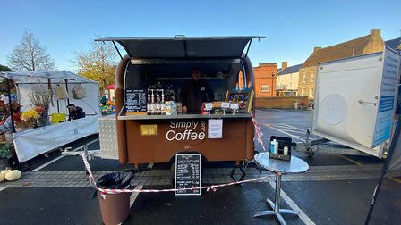 The market on the Town Hall Car Park in Downham Market. Picture: Adam Harding