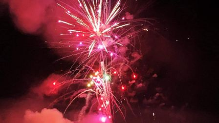 The drive-in firework display in Aldeby Picture: Contributed